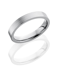 Titanium 4mm Flat Band
