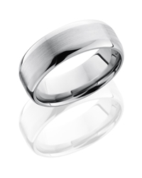 Titanium 8mm Domed Band with Flat Center