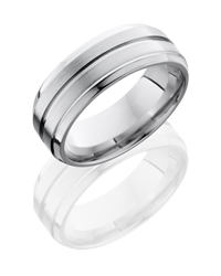 Cobalt Chrome 8mm Beveled Band