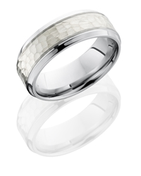 Cobalt Chrome 8mm Beveled Band with 4mm SS