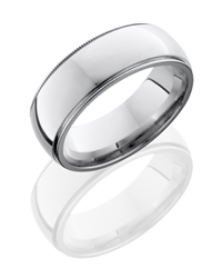 Cobalt Chrome 8mm Domed Band with Milgrain