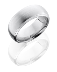 Cobalt Chrome 8mm Domed Band with Beveled Edges