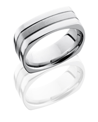 Cobalt Chrome 8mm Flat, Square Band