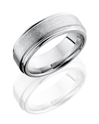 Cobalt Chrome 8mm Flat Band with Rounded Edges