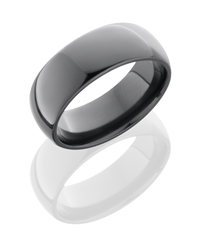 Zirconium 8mm Domed Band