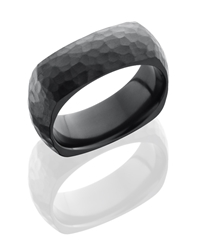 Zirconium 8mm Domed, Square Band